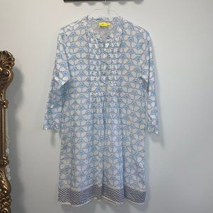 Roberta Roller Rabbit Blue Voile Pintuck Tunic